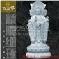 四面观音站立惠安石雕如来观音弥勒佛像雕刻 寺庙古建