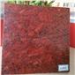 梨花白中国红粗花红色染板 天然大理石 工厂专业染色处理厂家直销
