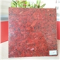 中国红 粗花红色①染板 国际标准板材 天然花◆岗岩工厂直销