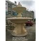 黄锈石水钵现货 石雕水钵 户外景观喷泉