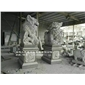 鎮宅石獅子 石雕北京獅 惠安獻錢師 寺廟青石獅子