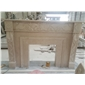 F-094白玉兰大理石出口壁炉架Fireplace Mantel