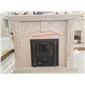 F-279世纪米?#39057;?#33457;壁炉架WHITE MARBLE MANTEL