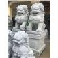 寺廟石雕獅子 石雕港幣獅 花崗巖石獅子