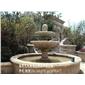 天然石头雕刻黄锈石喷泉效果图 惠安石雕水钵厂家