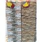 黄木纹毛边平板文化石 专业生产量大优惠 欢迎来电咨询
