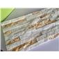 金碧白石英平板文化石 纯天然环保石材  13290629701