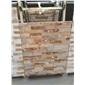 2 黄木纹黄白红色平板文化石 装饰内外墙 施工简单 产量高 价格便宜  13290629701