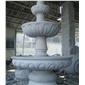 喷水池喷泉花钵水钵雕像雕刻石桌椅