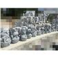 小动物雕像,人物雕像,喷水池,石桌椅,栏杆,浮雕,拱桥