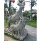 动物雕像,雕刻,喷水池,栏杆