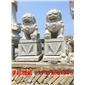狮子雕像,动物雕像雕刻,浮雕,喷水池,栏杆石桌椅