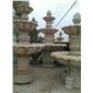 喷水池,喷泉,雕刻,浮雕,栏杆