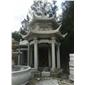 石亭子,庭院寺庙亭子,雕刻,浮雕,石桌椅