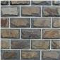 天然蘑菇石外墙砖青石板文化石仿古砖别墅花园小区文化砖庭院墙砖