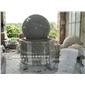 风水球喷泉现货 黄锈石喷泉雕塑 石材风水球