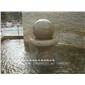 别墅风水球喷泉 印度红风水球 高档石材风水球