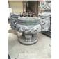 圆形石香炉 寺院石香炉 石材香炉雕刻