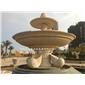 埃及米黃石材水缽噴泉 廣場園林景觀石雕噴泉水缽