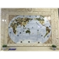 世界地图水刀拼花,水刀马赛克,数控雕刻,