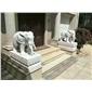 专业生产厂家石雕象大象汉白玉大象如意象