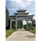 寺庙公园石雕石牌坊雕刻石牌楼石门山门三门仿古雕刻