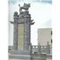 石雕龙柱文化柱石雕龙公司门口滚龙柱石柱子华表浮雕雕塑青石仿古