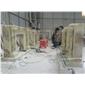 批量生產天然玉石雕刻壁爐架