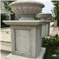 黄金麻喷泉  欧式人物喷泉 石雕喷泉 花岗岩喷泉  石雕花盆  黄金麻花钵