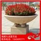 花钵生产厂家 石头花盆定做 景观石雕花钵