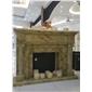 F-142红花巴玉石装饰壁炉架Onyx fireplace