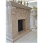 F-045奥特曼雕刻大理石壁炉架Fireplace Mantel