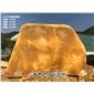 英德盈丰奇石场直销天然景观黄蜡石 刻字黄蜡石 免费设计加工