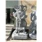 石雕韦陀菩萨 佛像雕刻 青石仿古寺庙建筑大型摆件