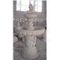 黄锈石喷泉 批发 石雕喷水池园林雕刻,动物 人物石雕 喷水池 花钵栏杆 花岗岩石材雕塑