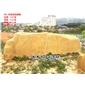 英德盈丰奇石园艺场直销大型刻字黄蜡石 风景石 风水石 景观石