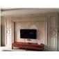 廠家定制人造石電視背景墻框客廳餐廳簡約歐式雕花背景墻水刀拼花