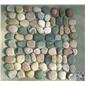 卵石圆石五彩石拼接网贴