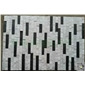 黑白条形文化石 斑马纹胶粘石 背景墙装饰