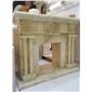 进口巴玉欧式现代风格手工雕刻壁炉架