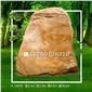 景盛-246号大型园林景观石价格 天然景观石价格 景观石头批发 大型黄蜡石产地直销 黄色景观石 门牌