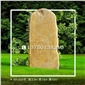 A8-009号│黄蜡石产地直销 黄色景观石 自然石雕 刻字石 公园观赏石