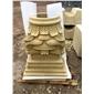 米黄砂岩 罗马柱帽