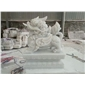 汉白玉 麒麟石雕