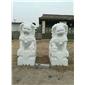 漢白玉 石獅雕塑