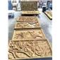 黄沙岩雕刻壁画