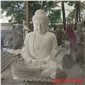汉白玉大理〓石释迦摩尼佛像