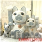 花崗巖石雕動物貓