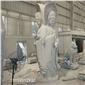 三面观音石头雕塑,石雕人物