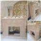 老礦莎安娜米黃歐式雕刻壁爐
